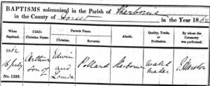 Arthur Pollard Baptism